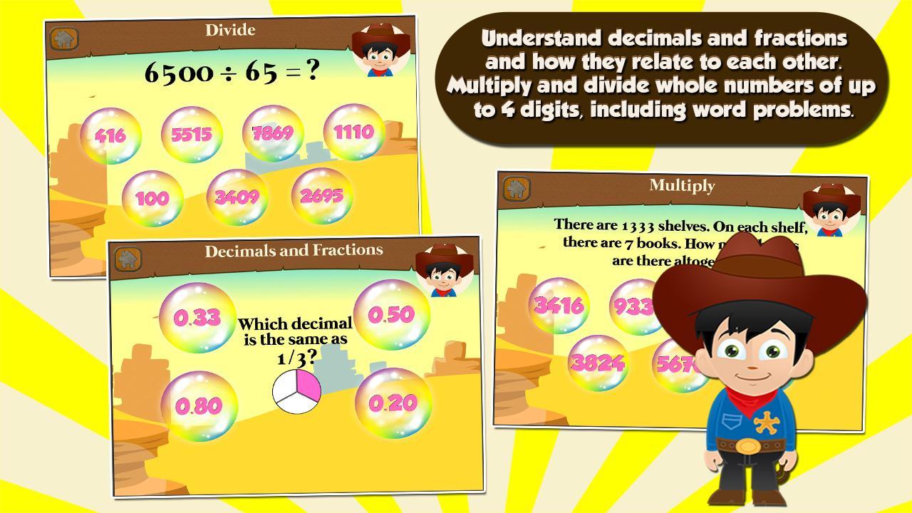 Cowboy Kids Third Grade Games Screenshot
