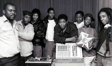 Photo: King Tubby's Crew in 1980  from left to right:  Cecil Tubby's, Big Jigs, Kevin (Indian), Martin (Tanny), Richard (Six), Lester, Leroy (Juby Roy) and Mr T.