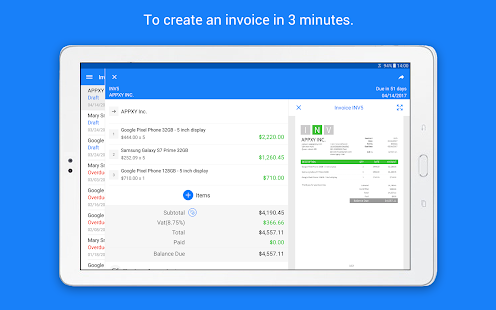 Invoice Maker Tiny Invoice Apps On Google Play - Invoice generator software free best online clothing stores for men