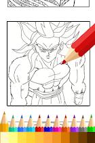 Coloring Book for Super Saiyan - screenshot thumbnail 03