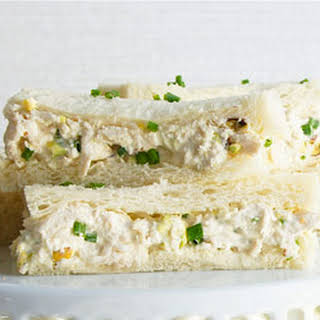 Chicken, Pistachio and Mayonnaise Sandwiches.