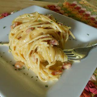15 Minute Smoky Spaghetti Carbonara Recipe