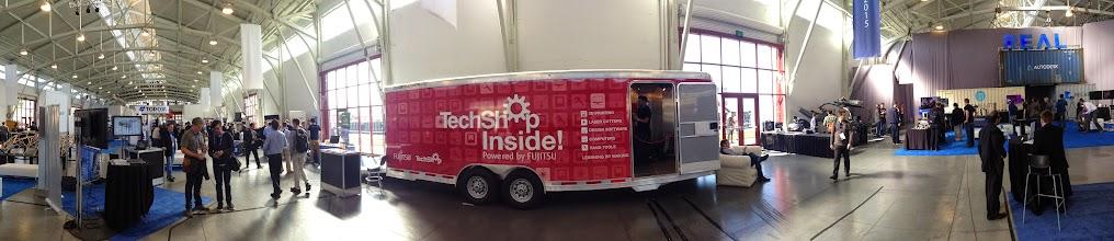 Photo: TechShop Trailerat #REAL2015 Main Hall