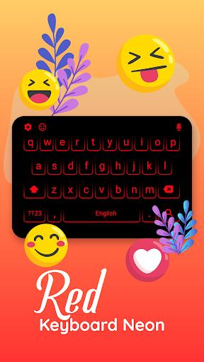 Neon RED Black Keyboard screenshot 3