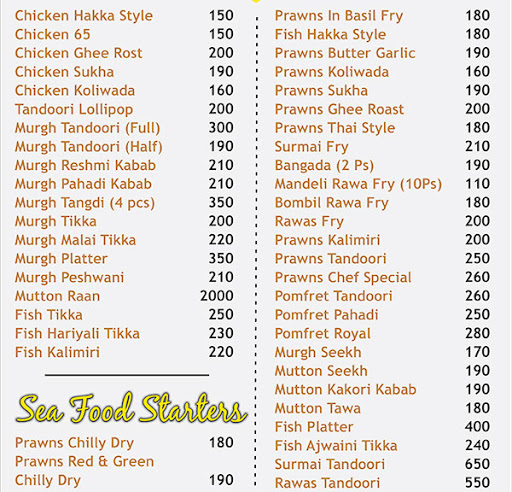 Food Style menu 2