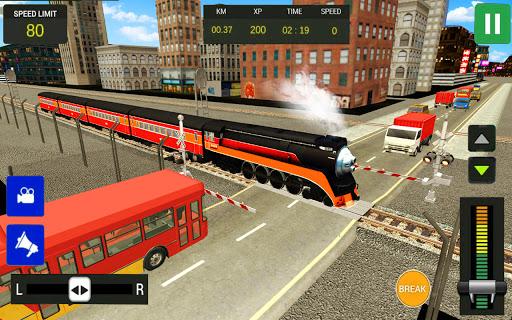 Modern Train Driving Simulator: City Train Games  screenshots 6