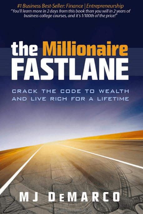 book cover for millionaire fastlane by MJ DeMarco
