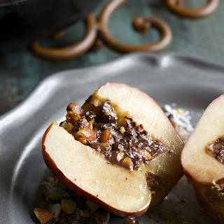 Chocolate Almond Stuffed Baked Apples