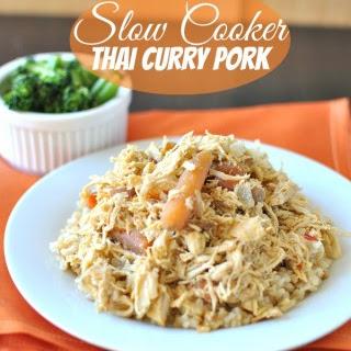 Slow Cooker Thai Curried Pork.