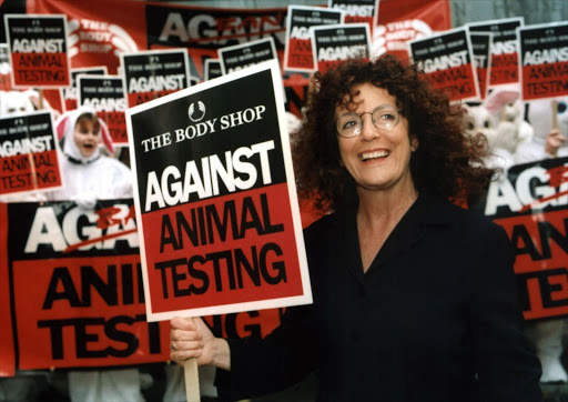The late Anita Roddick, founder of the Body Shop, was a leading campaigner for cruelty-free beauty.