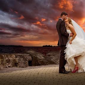 Romantic Bride & Groom by Robert Blair - Wedding Bride & Groom ( family photographer, wedding photography, belleville photographer, belleville wedding photographer, weddings, brides, groom, image plus photography )