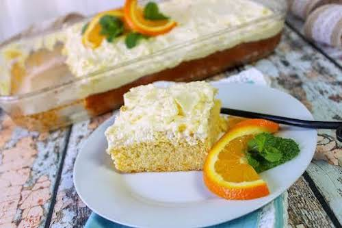 """Pineapple-Orange Sunshine Cake """"This citrus cake is cool and fluffy! It's a..."""