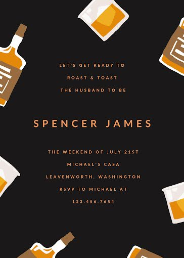 Spencer's Bachelor Party - Party Invitation Template