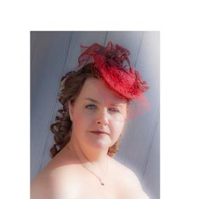 Suzy by John Walton - People Portraits of Women ( #heritagefocus, #red hat )