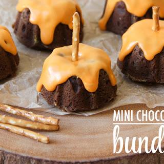 Mini Chocolate Pumpkin Bundt Cakes