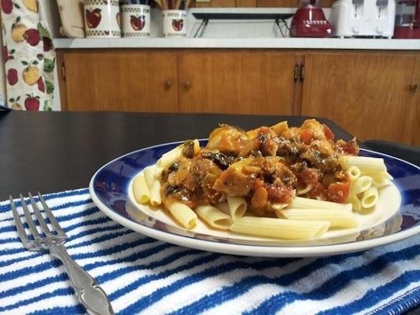Chicken Spinach And Artichoke Arrabiata With Pasta Recipe