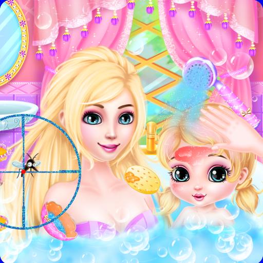 休闲の長髪王女と赤ちゃんの化粧スパ LOGO-記事Game