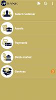 Screenshot of VP Bank e-banking mobile