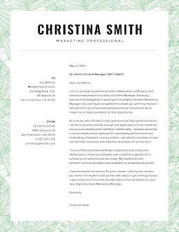 Christina Smith - Cover Letter item