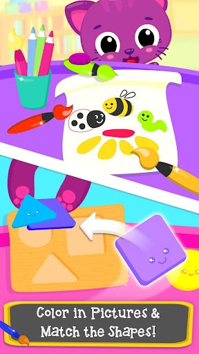 cute & tiny preschool - learning with baby pets screenshot 2