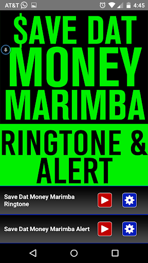 Save Dat Money Marimba Tone