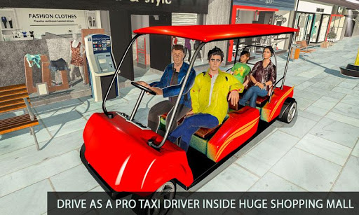 Shopping Mall Radio Taxi: Car Driving Taxi Games apkslow screenshots 5