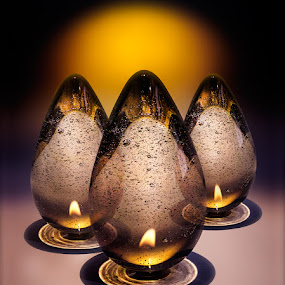 crystal egg lights by Marianna Armata - Artistic Objects Glass