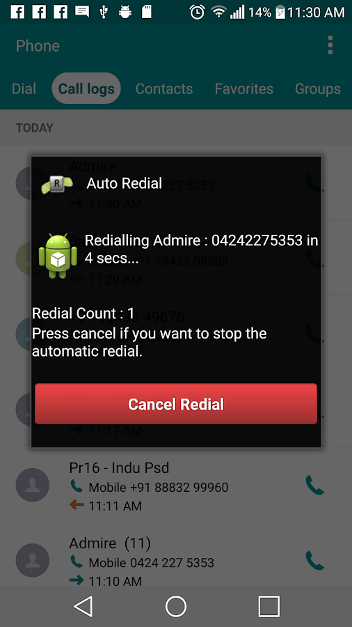 Auto Redial- screenshot