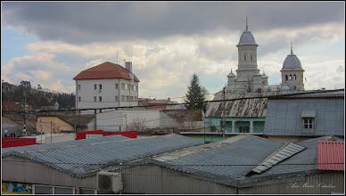Photo: Turda - Piata Republicii, Nr.28,29 - vedere panorama, Distrigaz si Catedrala  - 2018.02.19