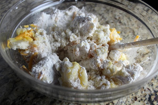 Add onion, cheese, and beaten egg to leftover mashed potatoes.  Mix well. ...