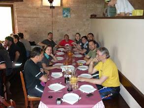 Photo: 11 giugno sabato - quarta sosta GrisoGiro - Fiastra Pranzo al Rifugio di Tribbio