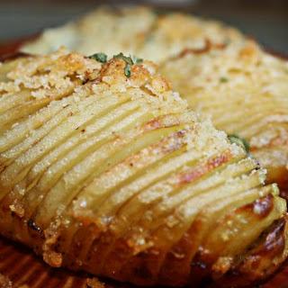 Baked Hasselback Potatoes.