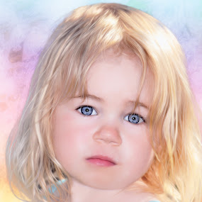 Angel by Stephen Crawford - Babies & Children Child Portraits ( angel, blonde, sunny, children, blue eyes, head, portrait, soft,  )