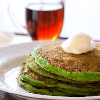 Green Monster Smoothie Pancakes.