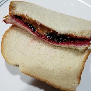 Peanut Butter and Black Raspberry Jelly Sandwich.