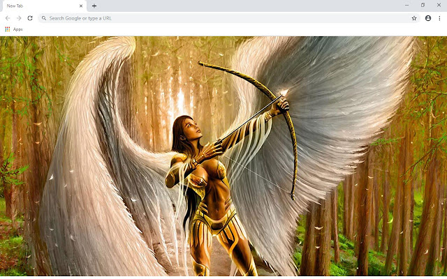 Angel New Tab & Wallpapers Collection