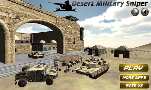 Desert Military Sniper Battle