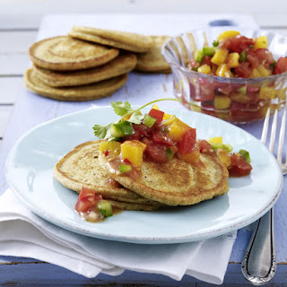 Spicy Pancakes with Fruit Salsa.