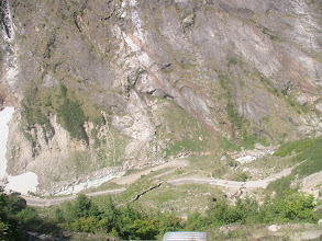 Photo: Climbing to Badrinath hill from Joshi muth - totally muddy road