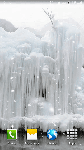 android Frozen Waterfall HD Wallpaper Screenshot 4