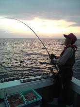 Photo: もう一枚! 今回の釣行は雨という予報でしたが・・? いい天気で。