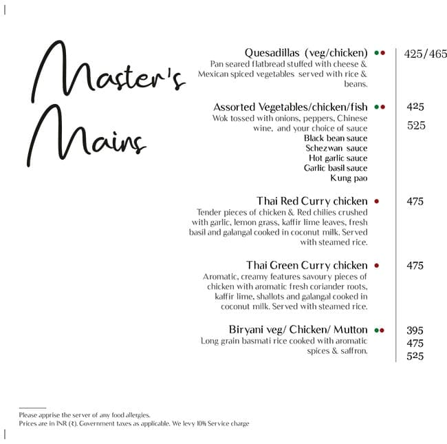 Master Of Malts menu 14