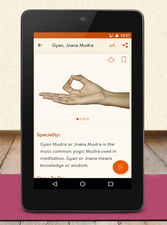 Daily Mudras (Yoga) - for health- screenshot