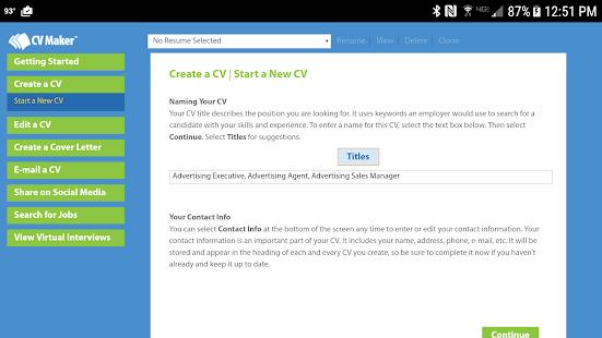 cv maker platinum apps on google play