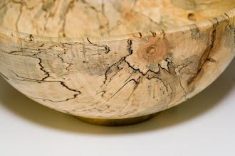 Photo: Ilya Zavorin (detail of spalted maple bowl)