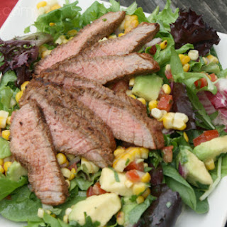 Grilled Steak Salad with Corn Salsa.