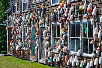 Photo: Buoys in back of Hotel Pemaquid, near Pemaquid Point Light House
