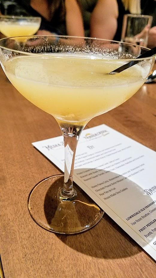 Tanner Creek Tavern Creekside with DL Franklin Vodka, New Deal Ginger Liqueur, and Pear