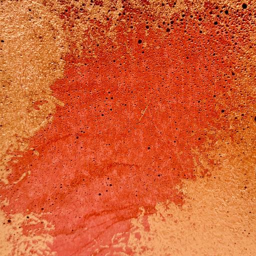 béton patiné couleur béton lie de vin et patine cuivrée