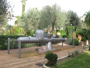 Photo: Midget submarine of type used by Italians against allied warships in World War Two